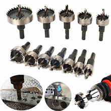 13 Pcs/set High-speed Steel Serrated Hole Opener Set Iron Plate Steel Perforated 16mm-53mm Reamer Iron Opening