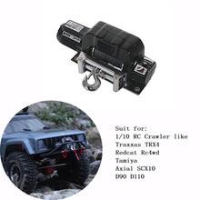 Радиоуправляемый гусеничный автомобиль лебедкой для 1/10 Traxxas TRX4 Redcat Rc4wd Tamiya осевой SCX10 D90 D110 удаленной машине грузовик