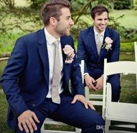 Terno Masculino Bule mannen Pakken maatwerk Bruidegom Beste mannen suits Tuxedos notch revers bruiloft Hoge Kwaliteit Pak