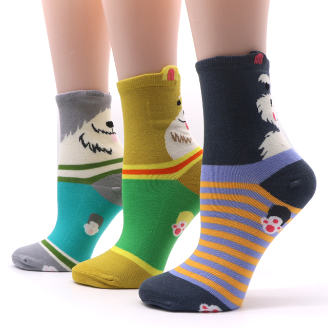 1 Pair Cotton Women Sock 5