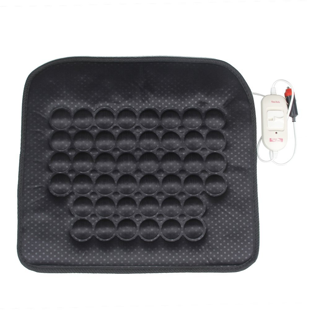 Car Heated Seat Cushion Hot Cover Auto 12V Heat Heater Warmer Pad-winter Black