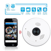 360 Degree Fisheye Panoramic IP Camera 1 3Megapixel 960P Wireless Wifi 2 4GHZ Security Camera Support
