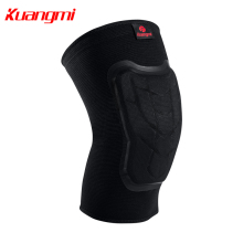 Kuangmi 1 pc Knee pads 3 D circular machine knitting Keep warm compression sleeve Sports protection Prevent collision