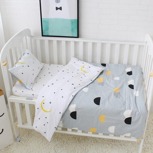 42a59a069d589 Bébé parure de lit 5 pièces Pur Coton Lit linge de lit Pour Enfants  Comprennent housse