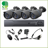 4CH CCTV System 960H DVR HDMI 4PCS 1200TVL IR Weatherproof Outdoor CCTV Camera Home Security System