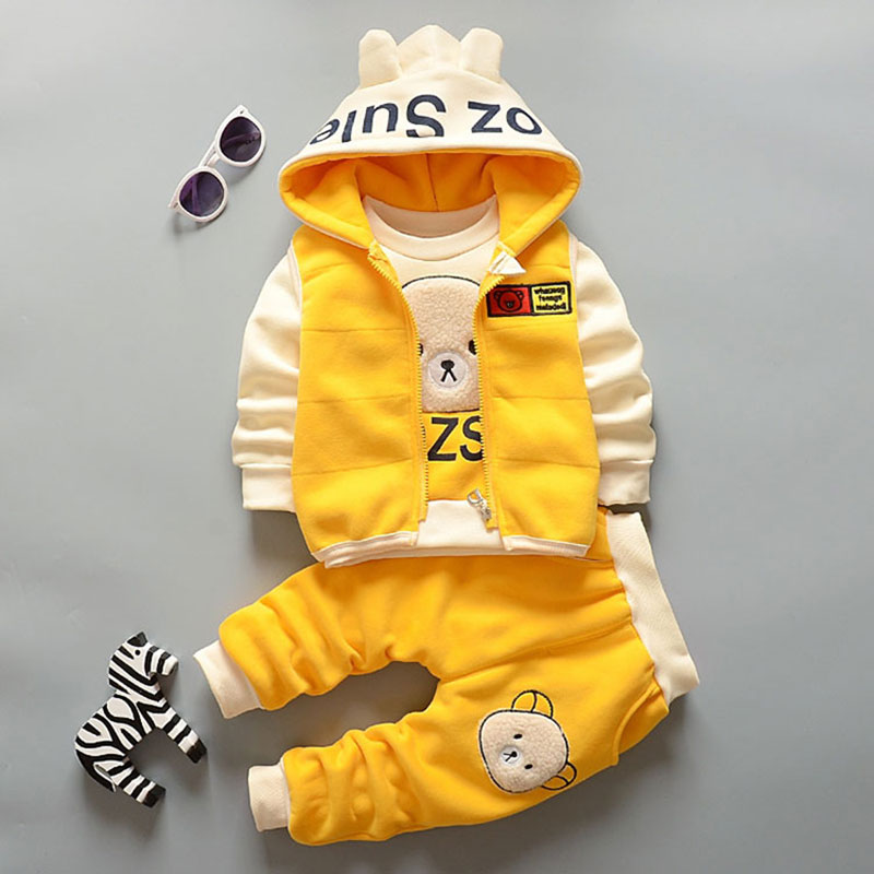 Cute Animal KidsClothing Sets 3pcsWarm Velvet Toddler Girl Clothes Outfit Suits