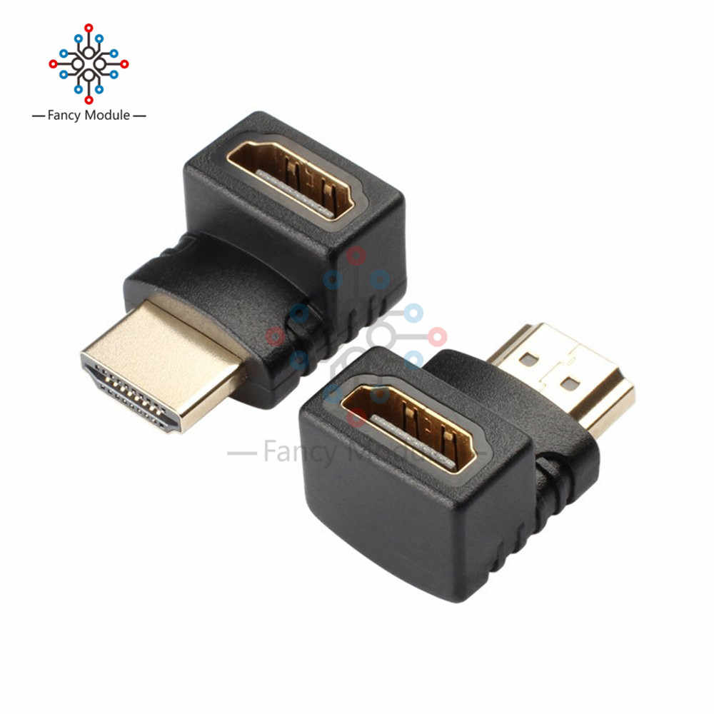 HDMI Adapter Right Angle 90/270 Degree Gold Plated HDMI Male to Female Connector Support 3D 4K 1080P HDMI Extender