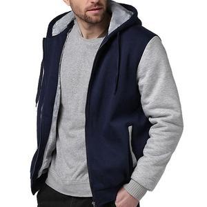Image 3 - ผู้ชายขนาดใหญ่เสื้อ7XL 8XL 9XL 10XLฤดูใบไม้ร่วงและฤดูหนาวแขนยาวซิปหนาขนแกะสีฟ้าสีแดงMatc