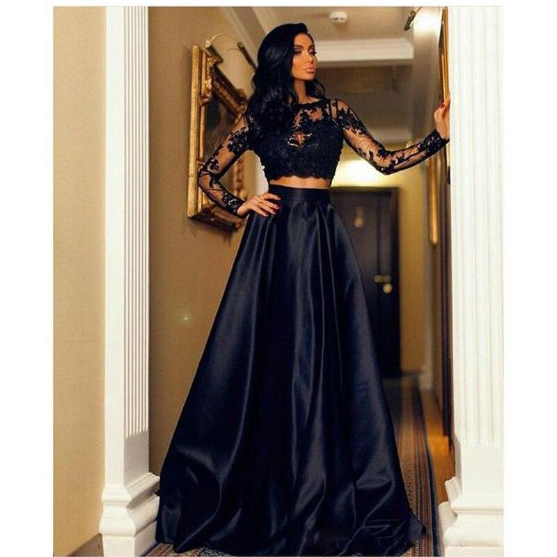 nouveau style 41864 e7892 € 32.59 8% de réduction|Jupe longue noire longueur de plancher de mode une  ligne formelle jupes de soirée femmes sur mesure longue jupe de bal 5XL ...