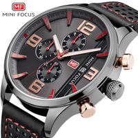 Minifocus Top Brand Relogio Fashion Men Watches Quartz Fashion Casual Leather Mens Watch 2017 New Auto