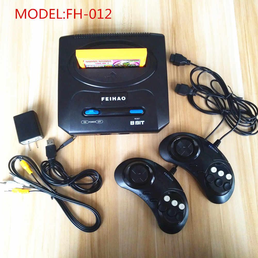 Ретро ТВ Видео игровая консоль для 8 бит FC/Dendy игр с двумя геймпадами FEI HAO FC Compact II PAL Поддержка желтый игровой картридж