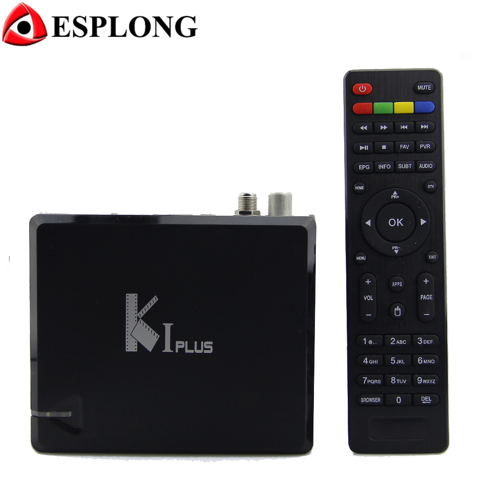 KI PLUS DVB-T2 DVB-S2 Android 5.1 TV BOX Amlogic S905 Quad Core 1GB 8GB 64bit 4K 3D Wifi Media Player Support Miracast DLNA rikomagic rkm mk06 tv set top box amlogic s905 quad core android 5 1 1gb 8gb 2 4g wifi bluetooth 4 0 smart media player tv box