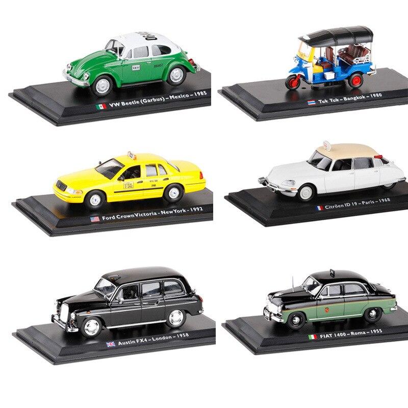 LEO 1/43 Scala Mondiale TAIX Tuk Tuk/Ford Crown/Citroen ID19/FIAT I400/VW Bttele/Austin FX4 Diecast Metallo Toy Model Car Per Il Regalo