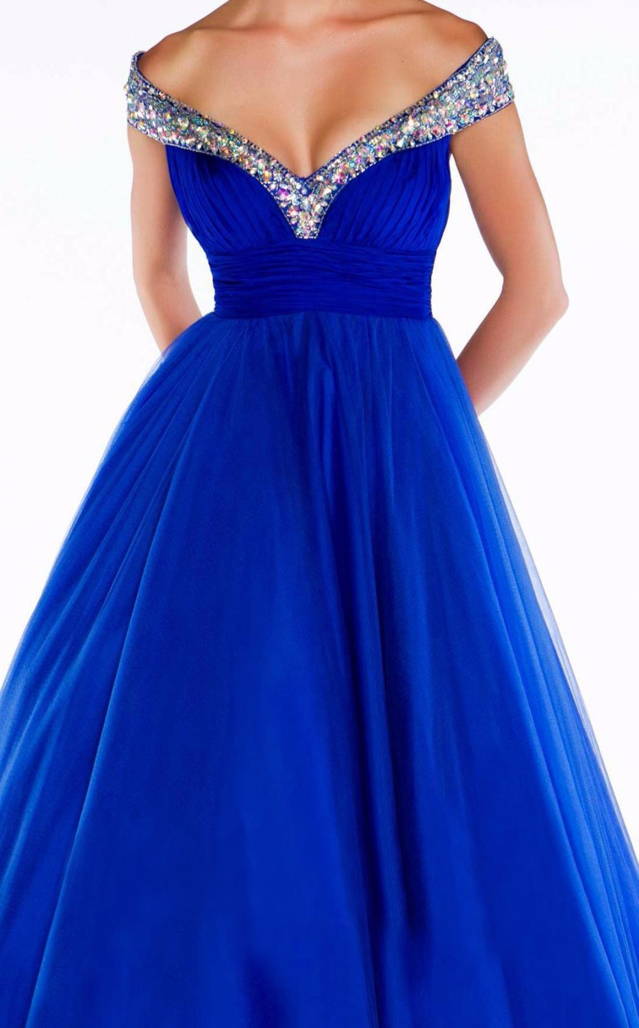 New-Arrival-2014-Sexy-Royal-Blue-Red-White-V-neck-A-Line-Modest-Evening-Pageant-Dresses (5)