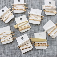 3Pcs/Set Pearl Metal Hair Clip Hairband Comb Bobby Pin Barrette Hairpin Headdress Accessories Beauty Styling Tools New Arrival two tone bobby pin set 10pcs