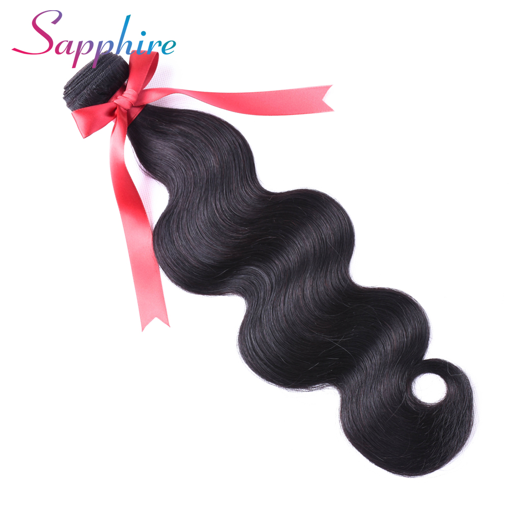 Sapphire Peruvian Body Wave 1 Piece 100% Human Hair Weave Bundles Natural Color Non Remy 8 - 26 Hair Extensions Free Shipping