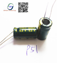 10pcs lot 6 3v 1800uf high frequency low impedance high frequency low impedance aluminum electrolytic capacitor