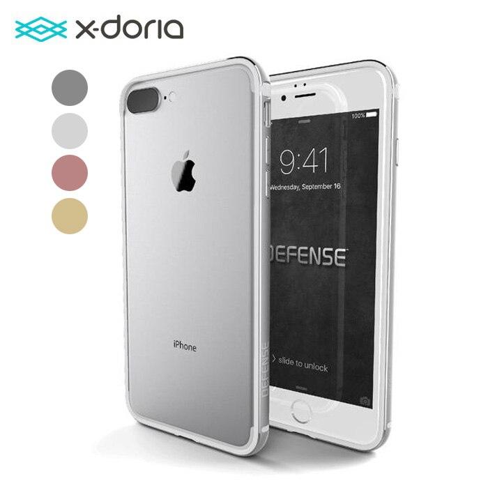 imágenes para X-doria Defensa Borde Caso para Apple iPhone 7/7 Plus Con Tpu y Protector de Parachoques Del Capítulo De Aluminio Anodizado caso