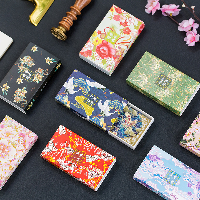 Delicate Japan Floral Paper Stickers Pack 60PCS/LOT