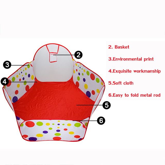 Kids Tent Play Game House Pits Pool Foldable Ocean Ball 2016 Hot New Indoor Outdoor Hut Pool Fun Sports Educational Toy T0075W
