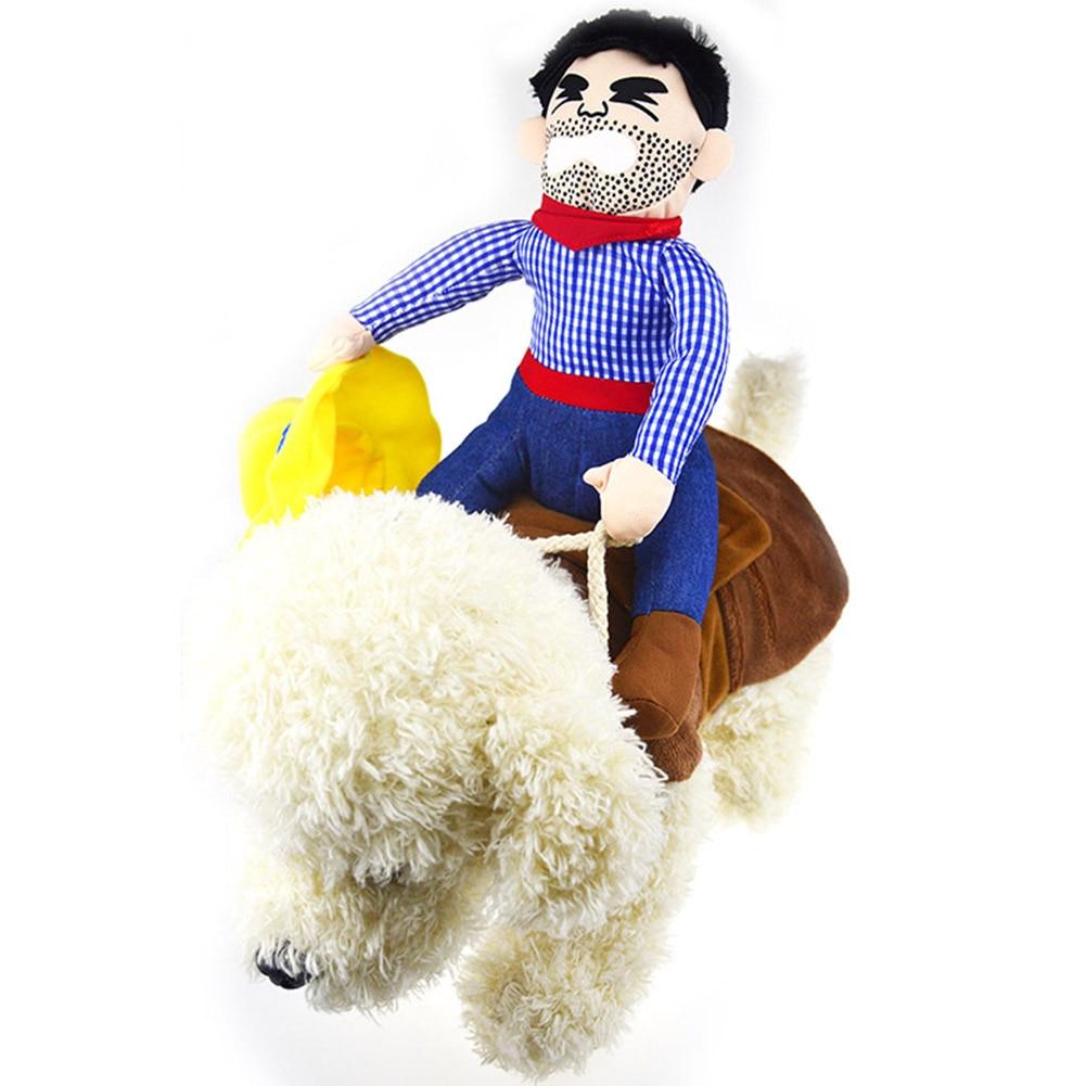 Focoso Popolare E Fresco Di Un Animale Domestico Del Costume Della Novità Divertente Equitazione Cavallo Cowboy Del Partito Outfit Cablaggio Dell'animale Domestico Vestiti Di Vendita Calda Tb Vendita Ampia Selezione;