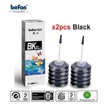 Befon 2 шт черный Запасной набор чернил совместимый для hp Canon чернильный картридж 301 21 22 301 121 140 141 pg510 cl511 40 41 для принтера