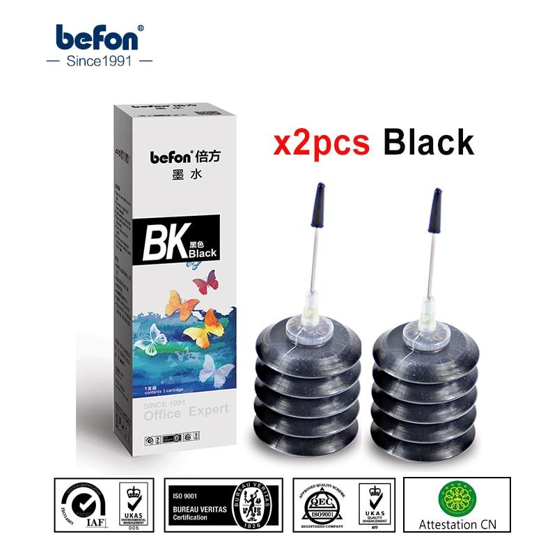 Набор чернильных чернил befon, 2 шт., совместимый с картриджем HP Canon 301 21 22 301 121 140 141 pg510 cl511 40 41 для принтера