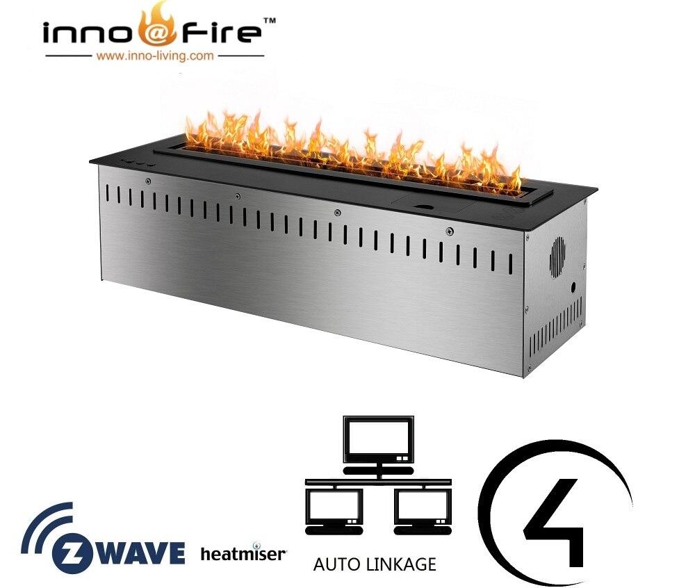 Inno Living Fire 36 Inch Bio Ethanol Burner Wifi Control