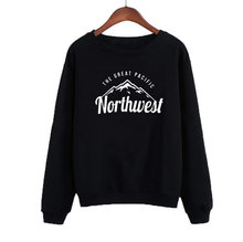 Mode Harajuku Gedrukt Tops Zwart Wit Fleece Truien Truien Vetement Femme Pacific Northwest Vrouwen Sweater Winter(China)