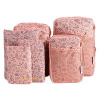 6Pcs Travel Set Bags Cosmetic Toiletries Portable Storage Makeup Pouch Wash Shoes Clothing Underwear Bra Organizer
