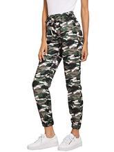 Women Pants Color Block Casual Tie Waist Jogger Pants Camouflage Trousers Sweatpants  Hot New Trends 2019 Streetwear High Waist недорого