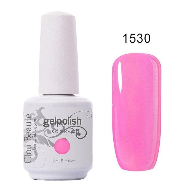 Clou Beaute Gel Nail Polish Polish LED UV Nail Gel Lacquer Vernis Semi Permanent UV Gel Varnish Soak Off Gel lak Enamel 15ml