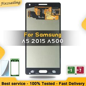 Image 1 - لسامسونج غالاكسي A5 2015 A500 A500F A500FU A500H A500M LCD مجموعة رقمنة اللمس جديد استبدال أجزاء شاشات LCD