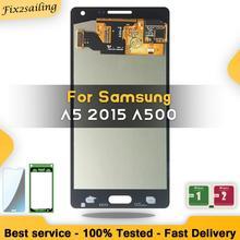 Para Samsung Galaxy A5 2015 A500 A500F A500FU A500H A500M LCD táctil digitalizador Asamblea nuevas piezas de repuesto LCD