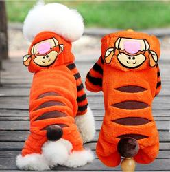 Fashion Halloween Cat Costumes Soft Fleece Dog Cat Jumpsuit Pet Overalls Puppy Cat Clothes for Small Cat Dog Pet
