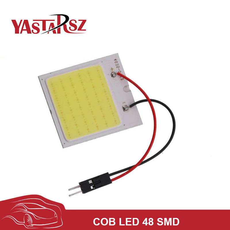 Car led super White cob led 12v 48 SMD car styling Reading indoor Lamp led Car Auto Interior Panel Light Bulb parking