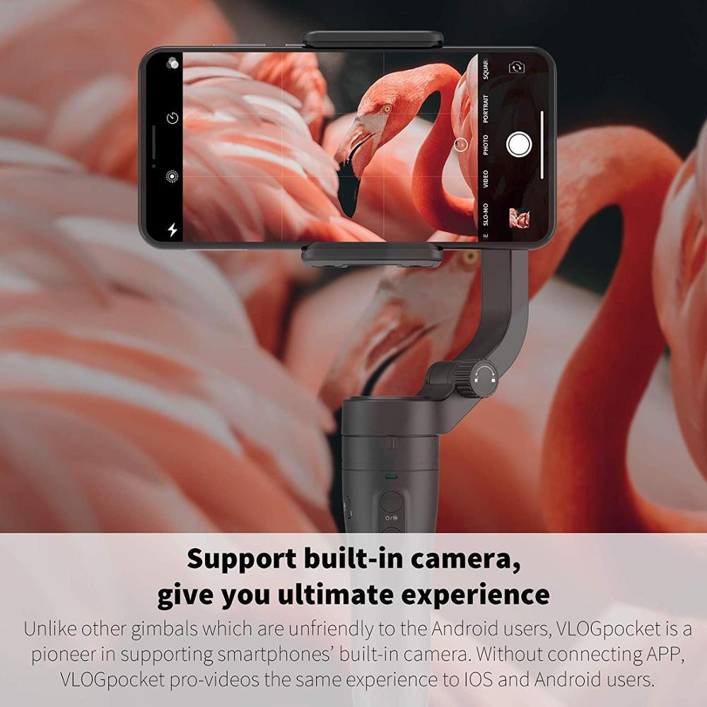 FeiyuTech Vlog Tasche Smartphone Gimbal 3 Achse Handheld Gimbal Rosa Faltbare Stabilisator für Android 240g Nutzlast