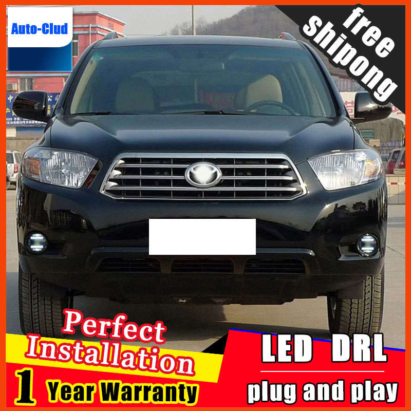 Car styling LED fog light for toyota RAV4 2009 2012 LED Fog lamp with lens and LED day time running ligh for car 2 function