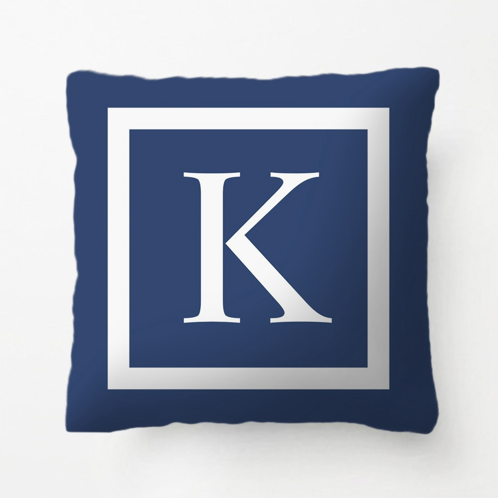 Teal Blue Or Any Color Monogrammed Modern Pillow decorative Cushion Cover Pillow Case Customize Gift For Living Room Pillowcase