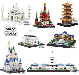 Balody World Famous Architecture Diamond Building Blocks Toy Castle Taj Mahal Tower Triumphal Arch Temple of Heaven(China)