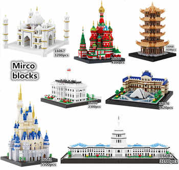 Balody World Famous Architecture Diamond Building Blocks Toy Micky Castle Taj Mahal Tower Triumphal Arch Temple of Heaven - DISCOUNT ITEM  12% OFF All Category