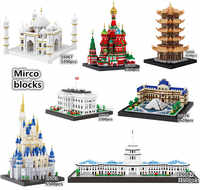 Balody World Famous Architecture Diamond Building Blocks Toy Micky Castle Taj Mahal Tower Triumphal Arch Temple of Heaven