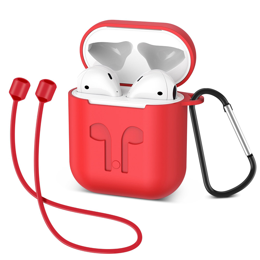 UBERAY Earphone Case For iPhone X XS Max Silicone Protective Case For AirPods Anti-lost Earphone Cover For Apple Air Pods Case