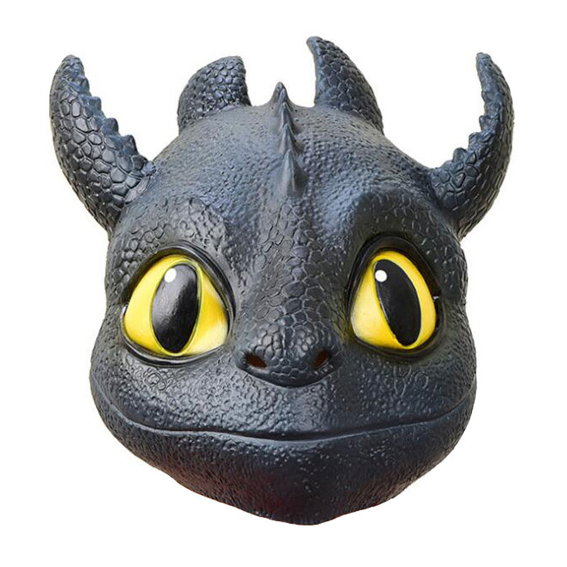 Cosplay Masks Anime How to Train Your Dragon Cosplay Props Night Fury Toothless Gronckle Nadder Kids Adult Latex Mask Helmet