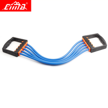 CIMA Fitness Resistance Bands Chest developer Crossfit Pull Up rope Sports exerciser rubber Yoga Training Loop Gym Expander ews child orange handle five springs chest expander pull exerciser