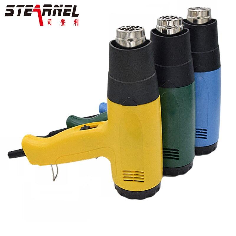 Usine direct industrie 1600 W, 1800 W, 2000W pistolet à air chaud voiture feuille de cuisson pistolet thermorétractable tube outil de rétrécissement