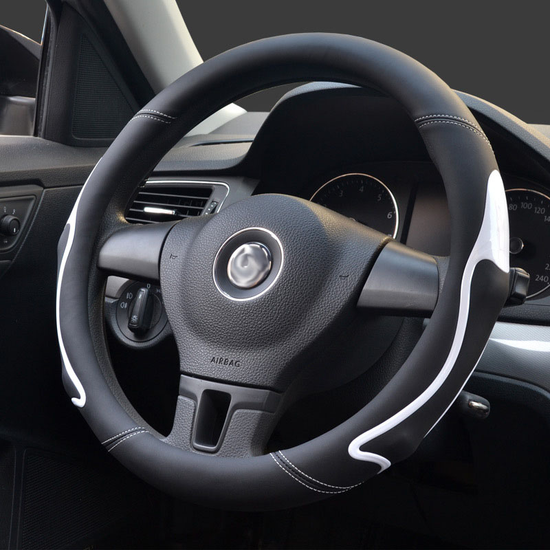 Steering wheel cover Universal 35/36cm steering covers of car style anti-slip fashion four seasons red blue yellow black orange очки bro style sunnies orange yellow blue