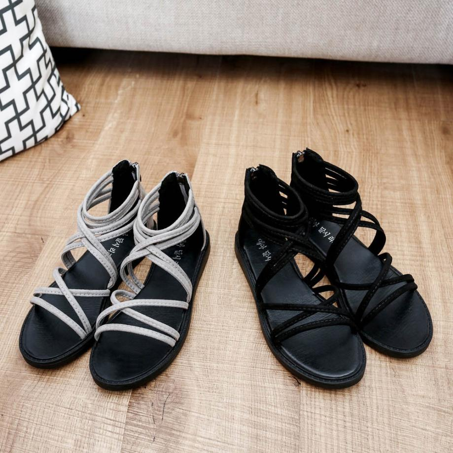 women Sandals Women Flat Shoes Bandage Bohemia Leisure Lady Casual Sandals Peep-Toe Outdoor Chaussures Femme 2018 hot sale 8