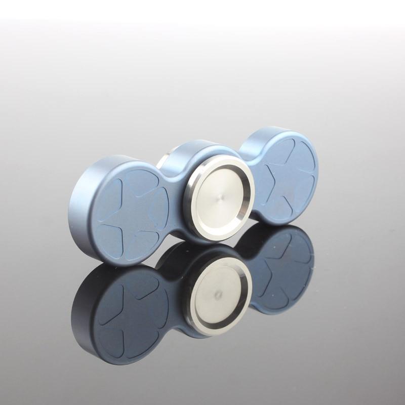 Quality Titanium Metal Handspinner Fidget Spinner Hand Finger Widget Antistress Top Main Spinning Bearing Titan Toy For Children