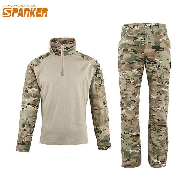 6dd502a63ffdb EXCELLENT ELITE SPANKER Military Camouflage Suit Tactical Assault Combat  Mens Set For Outdoor Army Hunting CS Sets